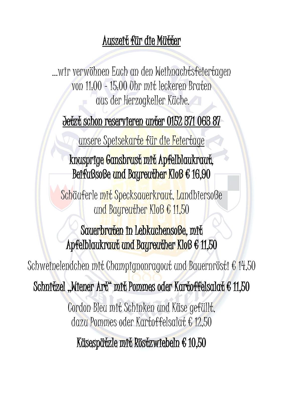 Herzogkeller Karte